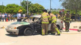 Lantana Middle  School Extrication Demo