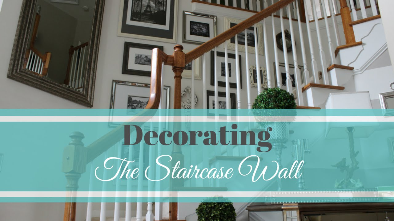 Stairway Wall Decorating Ideas decorating: the staircase wall - youtube