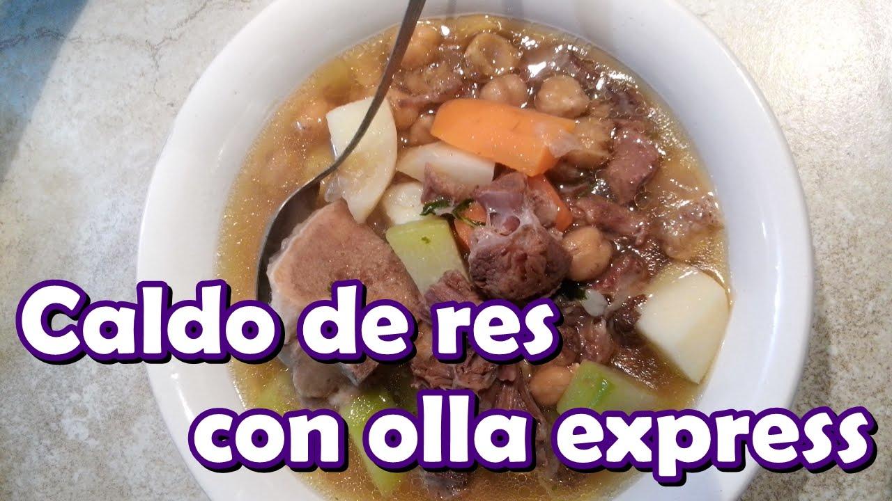 Caldo de res con olla express youtube - Cocido de garbanzos en olla express ...