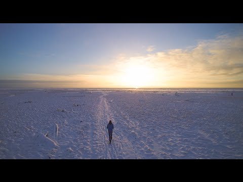 Amazing footage of drone over Anchorage, Alaska in the winter