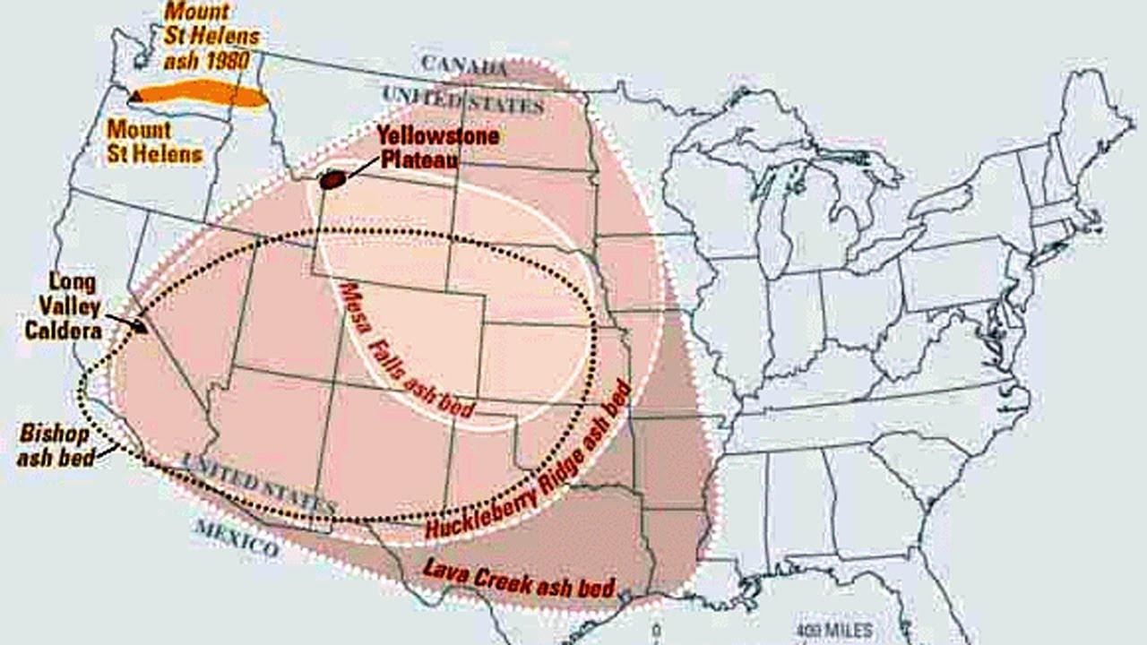 Volcano Yellowstone Volcano Map Kill Zone