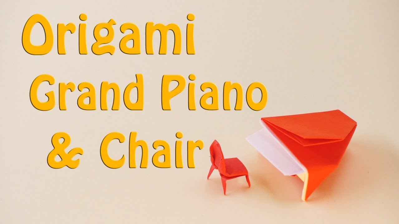 How to Make a paper Piano and Chair - Easy Tutorial - YouTube | 720x1280