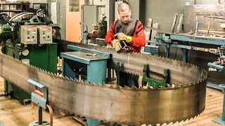 Amazing Ultra Band Saw Blade Manufacturing Process !! Perfect Sharpening Band Saw Blade Process