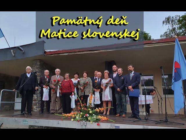 Pamätný deň Matice slovenskej vo Zvolenskej Slatine