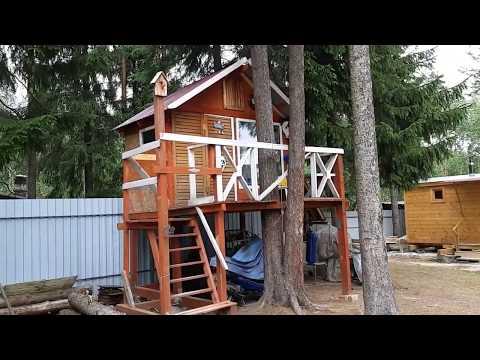 Детский игровой домик на дереве своими руками. Размеры и описание.