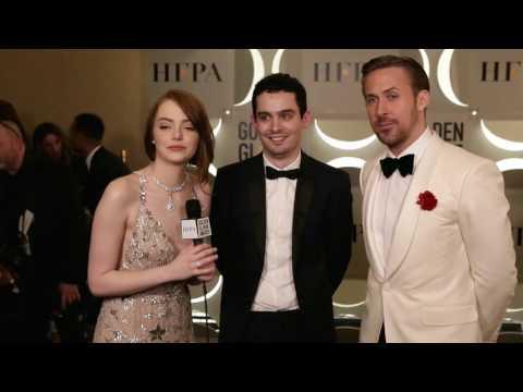 Backstage with La La Land trio - 74th Golden Globe Award Winner