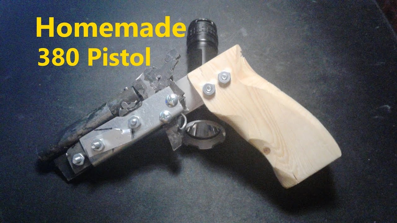 Homemade Single Shot  380 Pistol (w/ Firing Test)