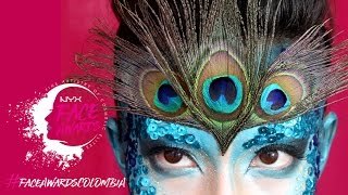 NYX FACE AWARDS COLOMBIA 2017 - Entrada - Pavo Real makeup tutorial