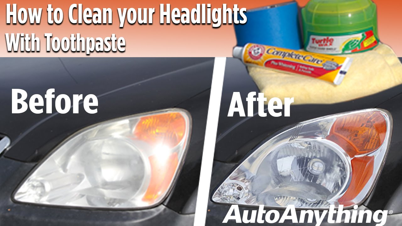how to make headlights clear with bug spray