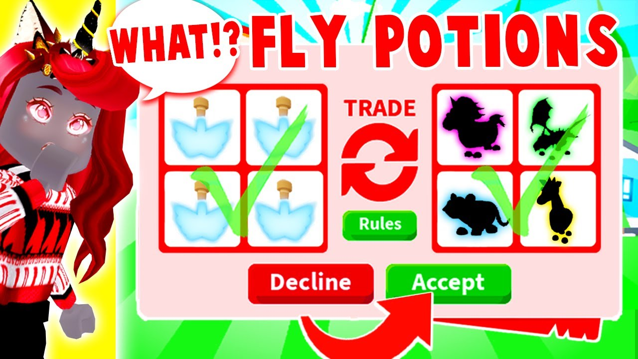 There Is NO WAY I Got This When Trading FLY POTIONS Only In Adopt Me!  (Roblox)