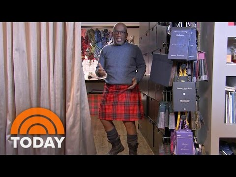 Al Roker Goes In Search Of The Perfect Kilt In Scotland   TODAY