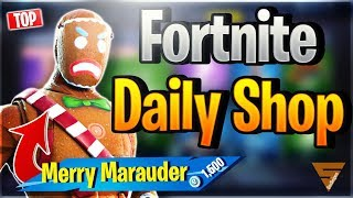 Fortnite Daily Shop *TOP* MERRY MARAUDER SKIN (22 December 2018)