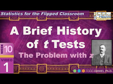 Guinness, Student, and the History of t Tests (10-1)