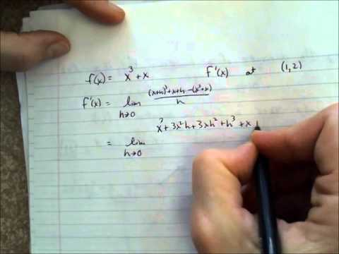 PreCalc H Ch 12.3 Finding the derivative of functions - YouTube