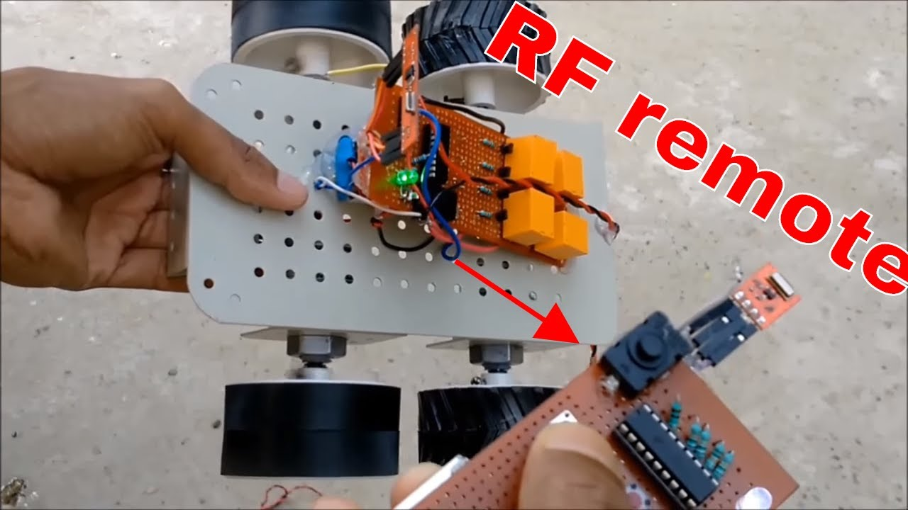 how to make wireless remote for rc car at home diy [ 1280 x 720 Pixel ]