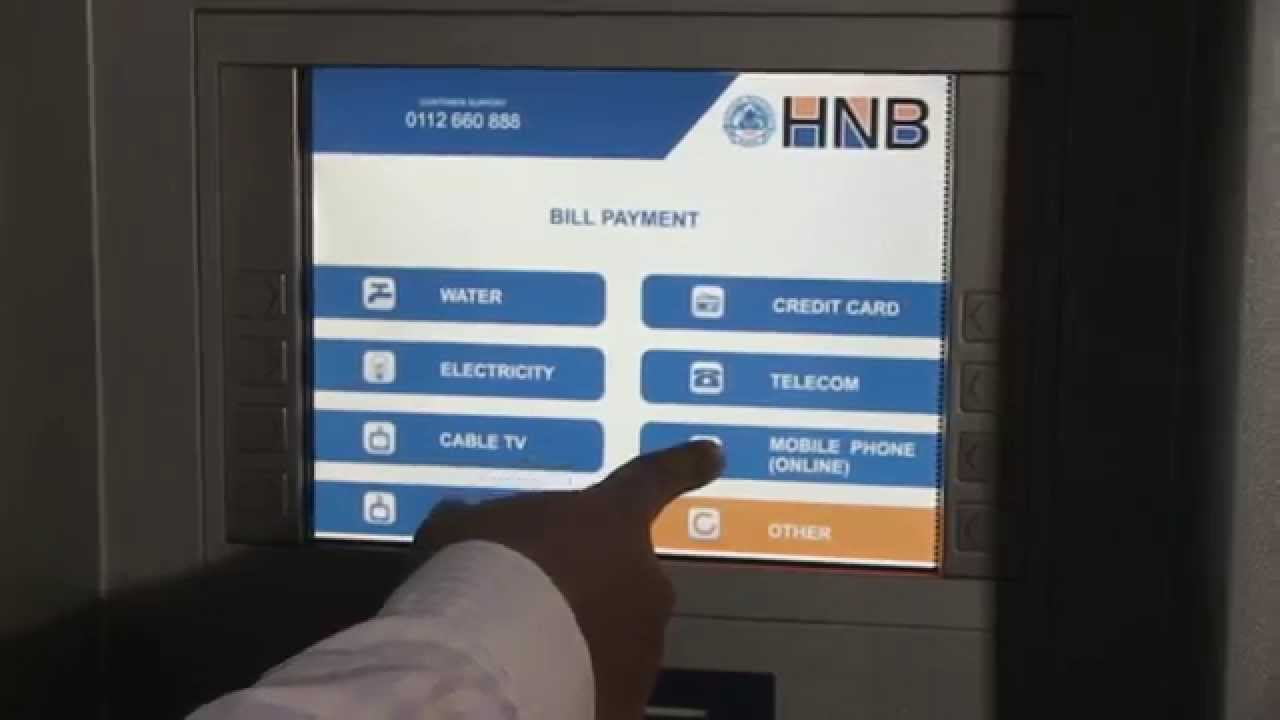 Top Up Your Mobile At Any Time Via Hnb Atm Youtube