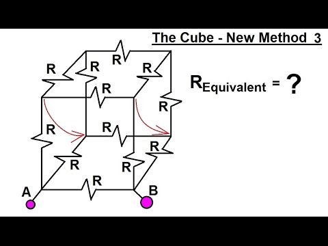 Physics - E&M: Ohm's Law & Resistor Circuit (21 of 23) The Cube: New Method  Case 3