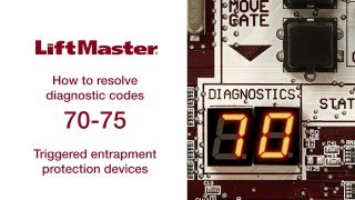 Liftmaster - Error Code 70 thru 75 - Gate Operator Troubleshooting