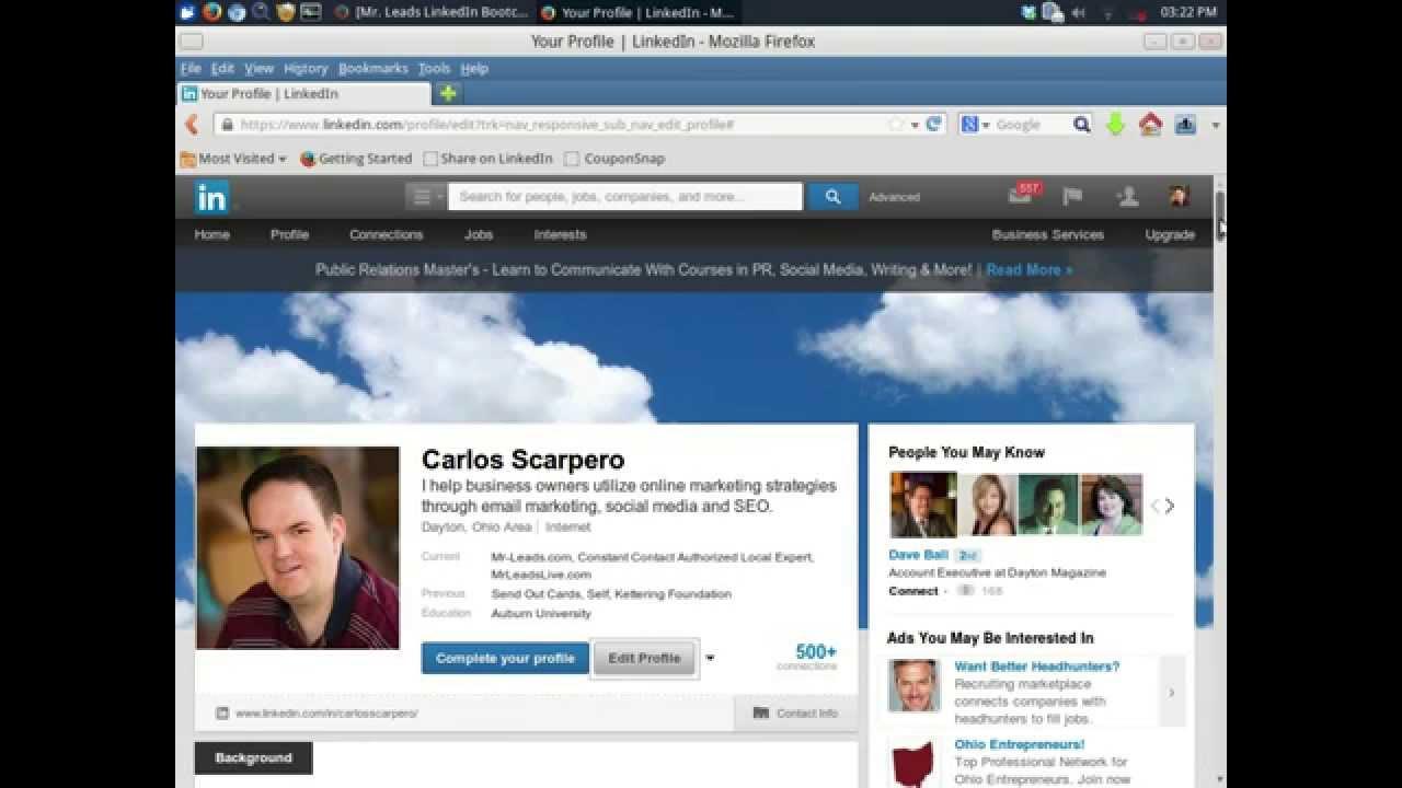 How To Add A Custom Background To A Linkedin Profile Youtube