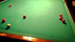 Amazing Golf Shot On Snooker Table !