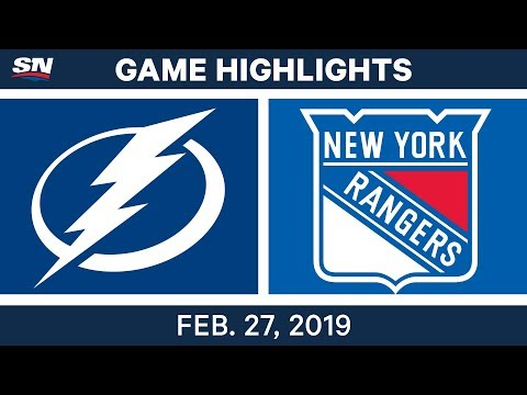 NHL Highlights | Lightning vs. Rangers - Feb 27, 2019