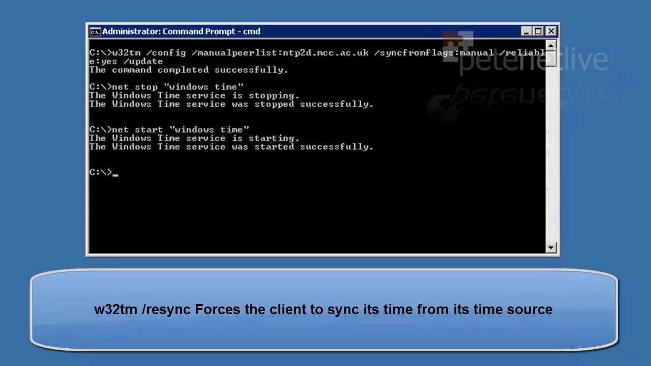 Microsoft Windows - Setting Server or Domain time from NTP mp4