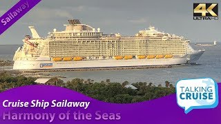 When you can't be there in person, watch your favorite cruise ship sailaway from wherever are. on this video we present royal caribbean's harmony of the ...