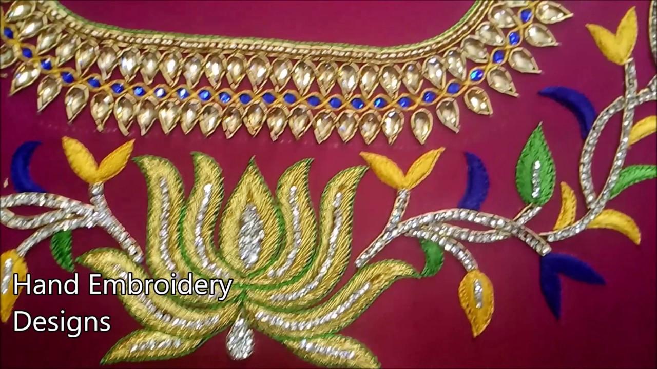 fe51e0a97ec1c0 simple maggam work blouse designs | hand embroidery designs | aari work  designs