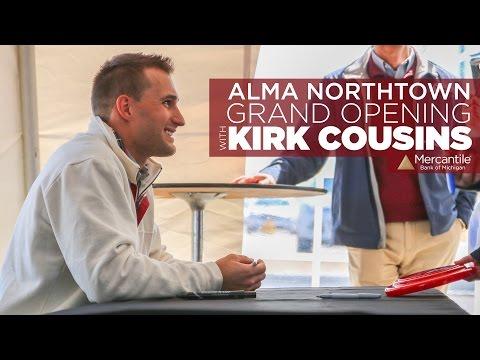 Kirk Cousins Meet &Greet | Mercantile Bank Alma Northtown Branch Grand Opening