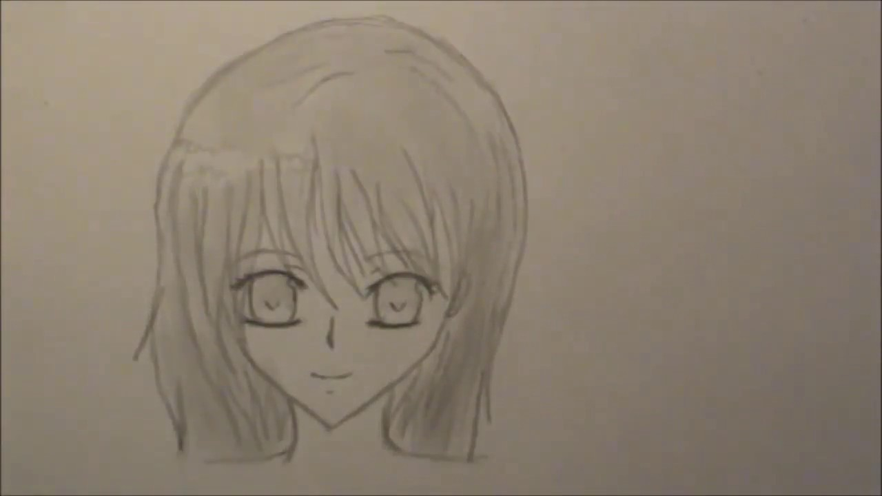 Cmo dibujar una chica anime How to draw a manga girl  YouTube
