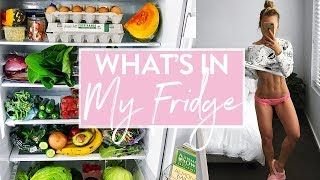 WHAT'S IN MY FRIDGE | My Diet & Staples + INTENSE Workout
