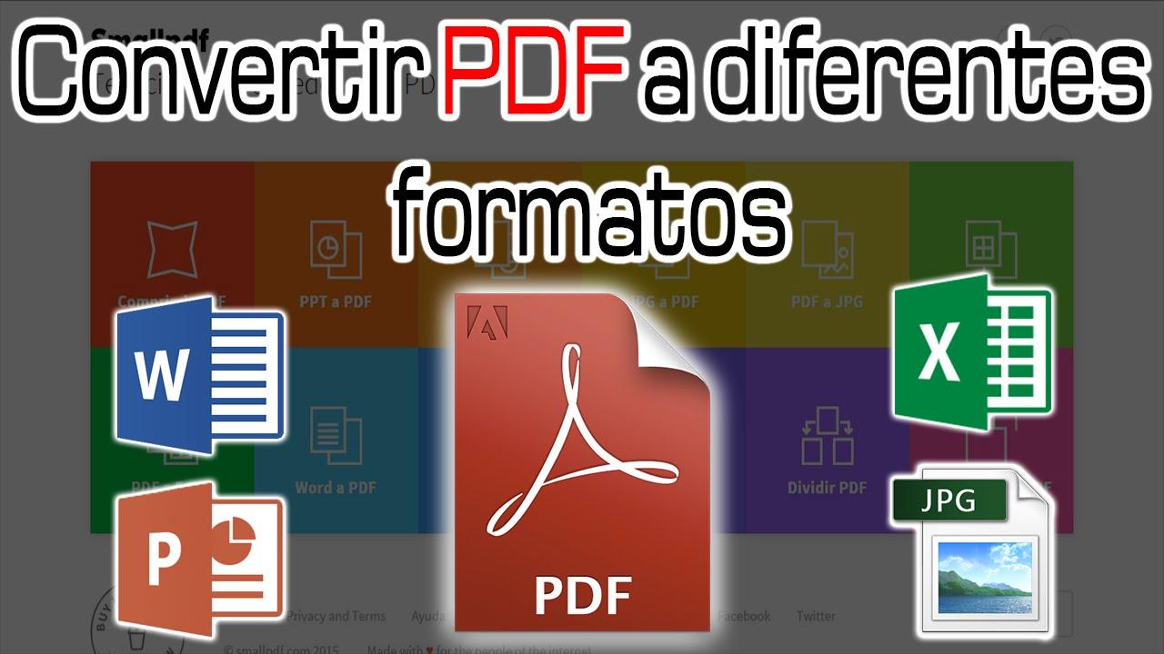 Convertir Archivos Pdf A Word  Ppt  Excel  Jpg  Sin