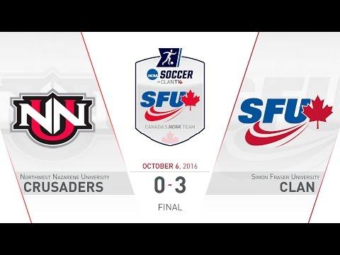 SFU Clan Women's Soccer: SFU vs. NNU - October 6, 2016
