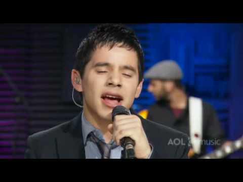David Archuleta AOL sessions My hands
