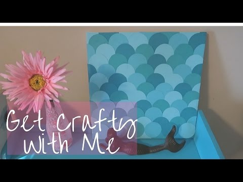 Mermaid Scalloped Wall Art | Get Crafty With Me