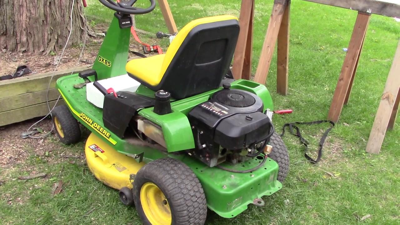 john deere gx85 maintenance hoist engine knock fix install transaxle [ 1280 x 720 Pixel ]