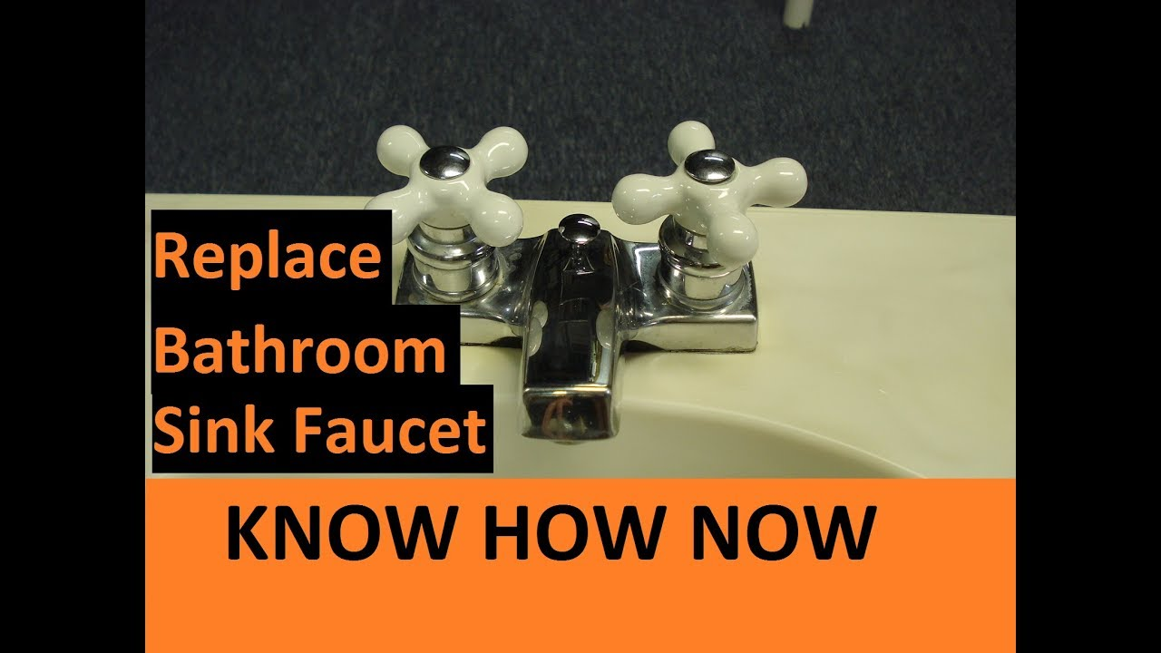 How to Replace a Bathroom Sink Faucet - YouTube