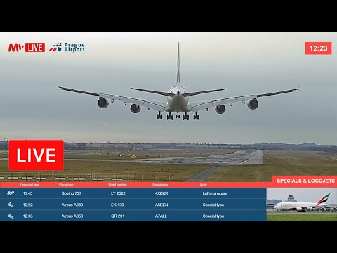 Live from PRG ✈ PRAGUE AIRPORT, CZECHIA (🇨🇿)