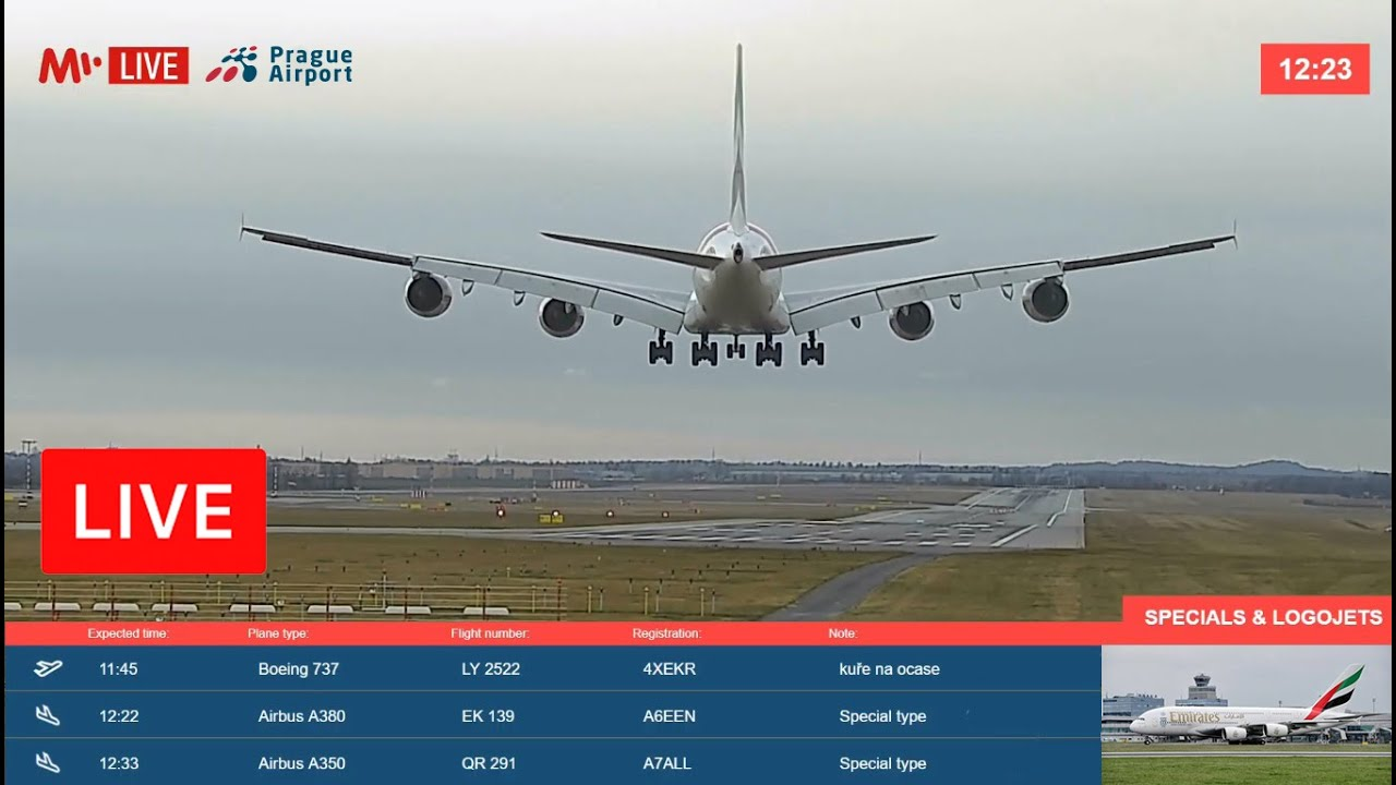 Download Live from PRG ✈ PRAGUE AIRPORT, CZECHIA (🇨🇿)