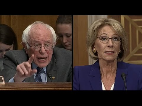 Bernie Sanders Questions Betsy DeVos: Would you be here without contributions? | ABC News