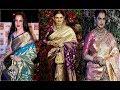 Amazing Kanjeevaram Silk Sarees From REKHA'S WARDROBE | Silk Saree Blouse Designs | Actress Rekha