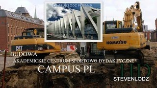 Campus Łódź - Bud. basenu olimp. - Wykopy, zbrojenie, betonowanie