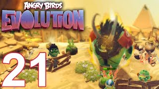 ANGRY BIRDS EVOLUTION Walkthrough Gameplay Part 21 - Rumble at Eagle Mountain (iOS Android)