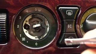 Замена лампочки подсветки блока переключателей печки W202 W210 W208