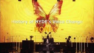 【hydeの歌声の変化】HONEY / L'Arc~en~Ciel - HYDE's Voice Change