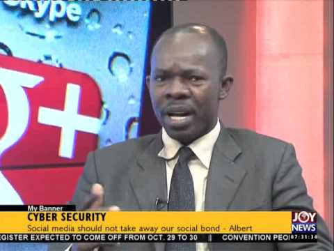 Cyber Security  - My Banner on Joy News (19-10-15)