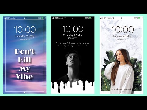 How To Make Aesthetic Lockscreen - PicsArt