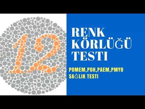 Renk Körlüğü Testi Standartlara Uygun Renk Görme Testi