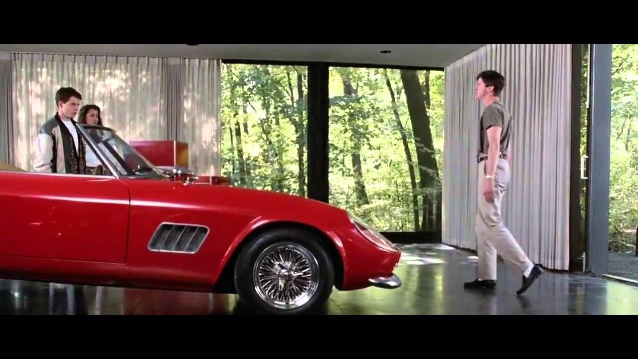 Ferrari California T >> Ferris Bueller's Day Off - Car Crash Scene - YouTube