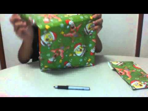 How to make a book cover out of wrapping